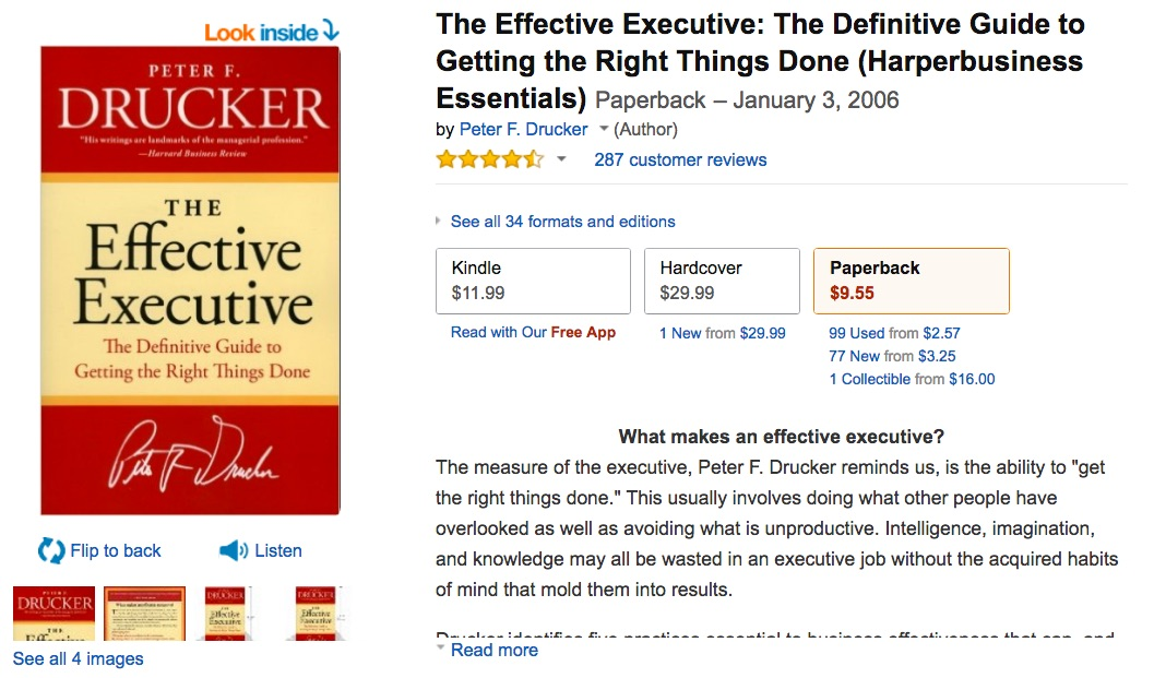 the_effective_executive__the_definitive_guide_to_getting_the_right_things_done__harperbusiness_essentials___peter_f__drucker__9780060833459__amazon_com__books
