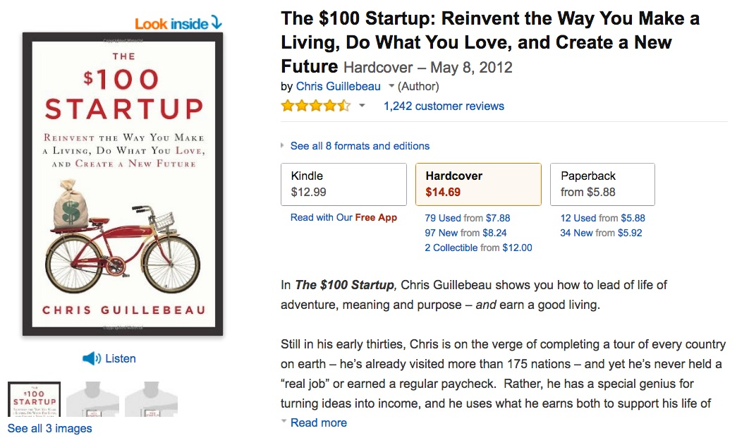 the__100_startup__reinvent_the_way_you_make_a_living__do_what_you_love__and_create_a_new_future__chris_guillebeau__9780307951526__amazon_com__books